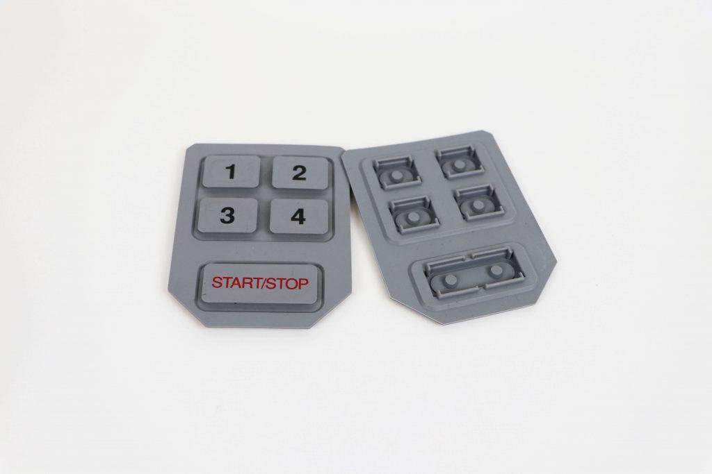 molded silicone keypad